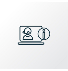 Online consulting icon line symbol premium vector