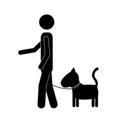 pet dog icon image vector image