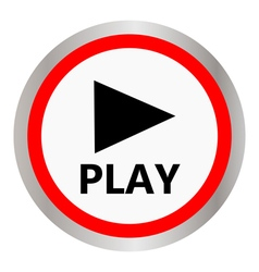 Play icon vector