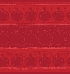 Pomegranate seamles pattern red color abstract vector