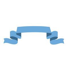 ribbon banner element decoration design vector image