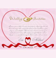 ribbon wedding r1 vector image