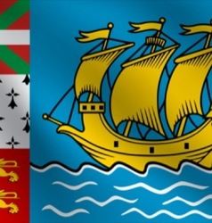 Saint Pierre and Miquelon flag vector image