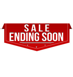 sale ending soon banner design vector image