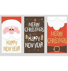 Santas message banners vector