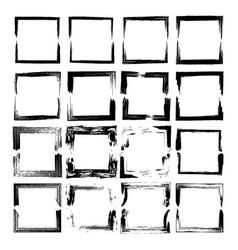 set of black frames vector image