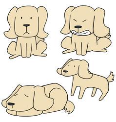 Set of dog labrador retriever vector