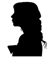 silhouette of a woman in profile vector image