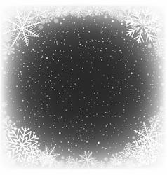 snowy black frame hole vector image