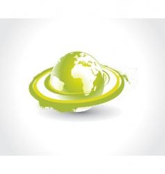 Swirl globe vector