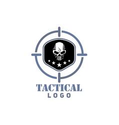 Tactical survival skull logo vector