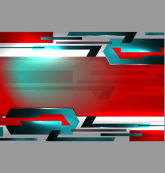 Technology abstract red background vector