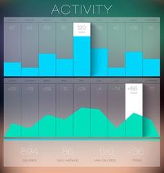 Trendy Flat Charts Widgets infographics vector image
