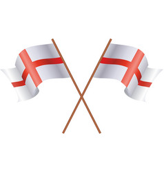 two flag of england vector image