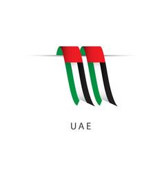 Uae ribbon flag template design vector