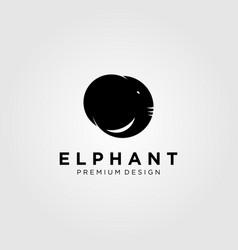 vintage elephant head logo design vector image