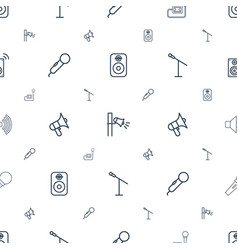 Voice icons pattern seamless white background vector