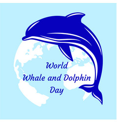 world whale and dolphin day dolphin and vector image