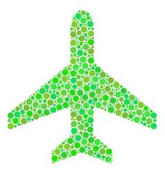 air plane mosaic of dots vector image
