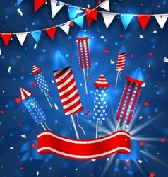 American Greeting Background for Independence Day vector image vector image