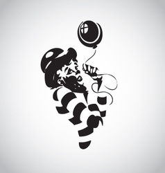 clown 02 vector image