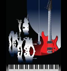 piano guitar jazz vector image vector image