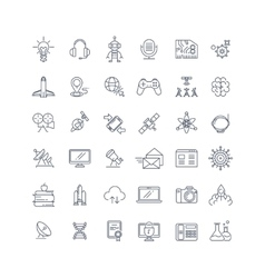 Technologies and science line icons vector image vector image