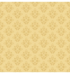 beige seamless floral pattern vector image