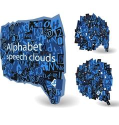 Blue talk bubbles vector image vector image