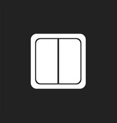 electric light switch icon electric switch flat vector image