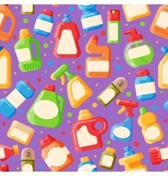 Home clean bottle seamless pattern vector image