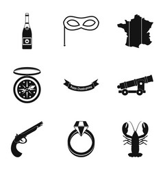 inebriate icons set simple style vector image