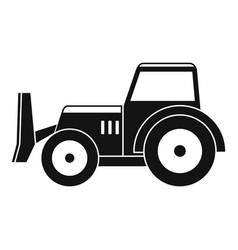 Skid steer loader icon simple vector