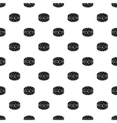 Cheeseburger pattern simple style vector image