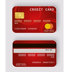 credit red vector image vector image