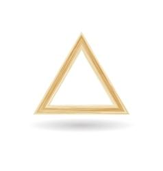 Geometrical figure of a triangle vector image