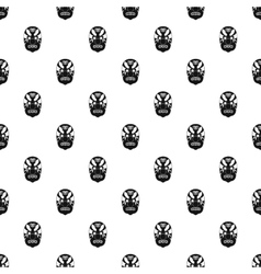 Hannya mask pattern simple style vector image vector image