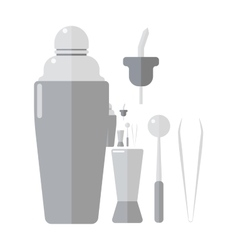Barmen drinks shaker vector