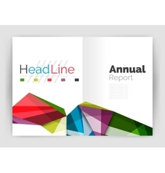 Geometric annual report business template vector image vector image