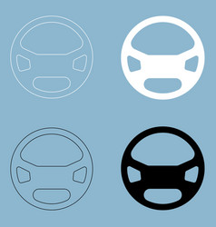 steering wheel the black and white color icon vector image vector image
