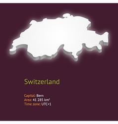 3d map of switzerland vector