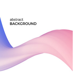 Abstract composition of the pink watercolor waves vector