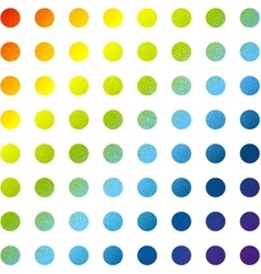 Abstract multicolored circles background vector image
