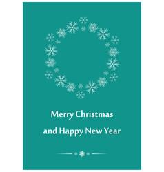 aquamarine greeting card for christmas vector image