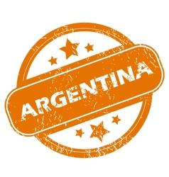 Argentina grunge icon vector image