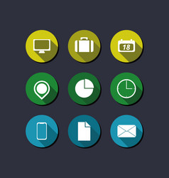 basic icon set with line shadow image vector image