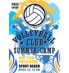 beach volleyball tournament sport competition vector image