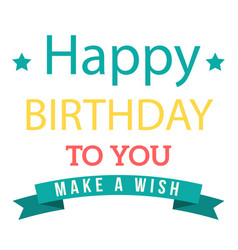 Birthday make a wish image vector