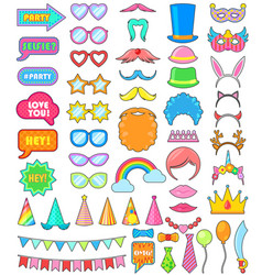 birthday party icon anniversary cartoon vector image