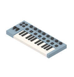 blue isometric synthesizer musical equipment vector image